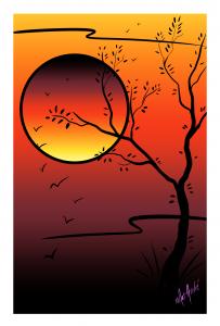sunset-flight-white-border-by-mat-andre